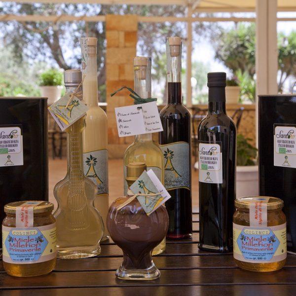 olio, miele e liquori